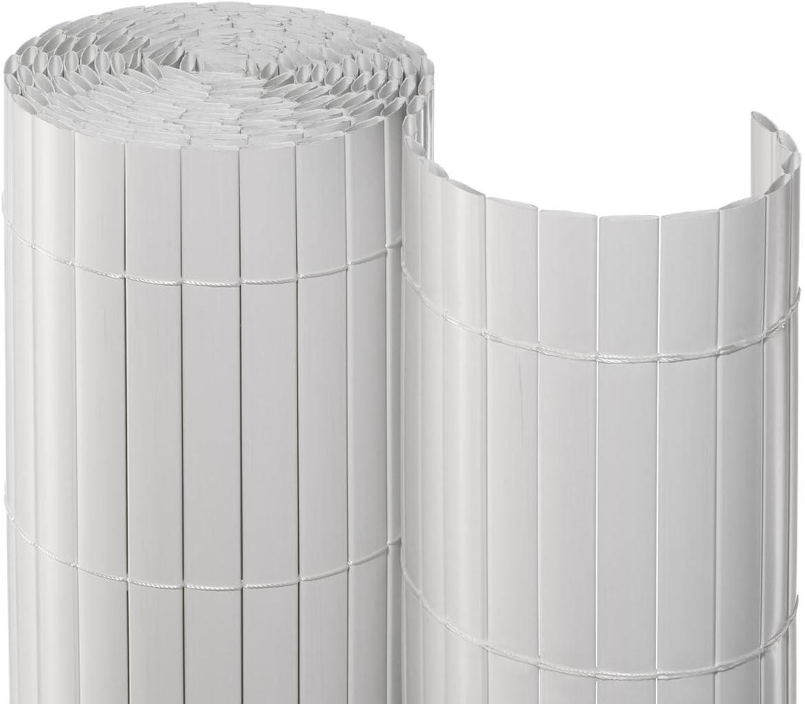 Amazon De Noor Sichtschutzmatte Pvc Weiss 0 90 X 3 M