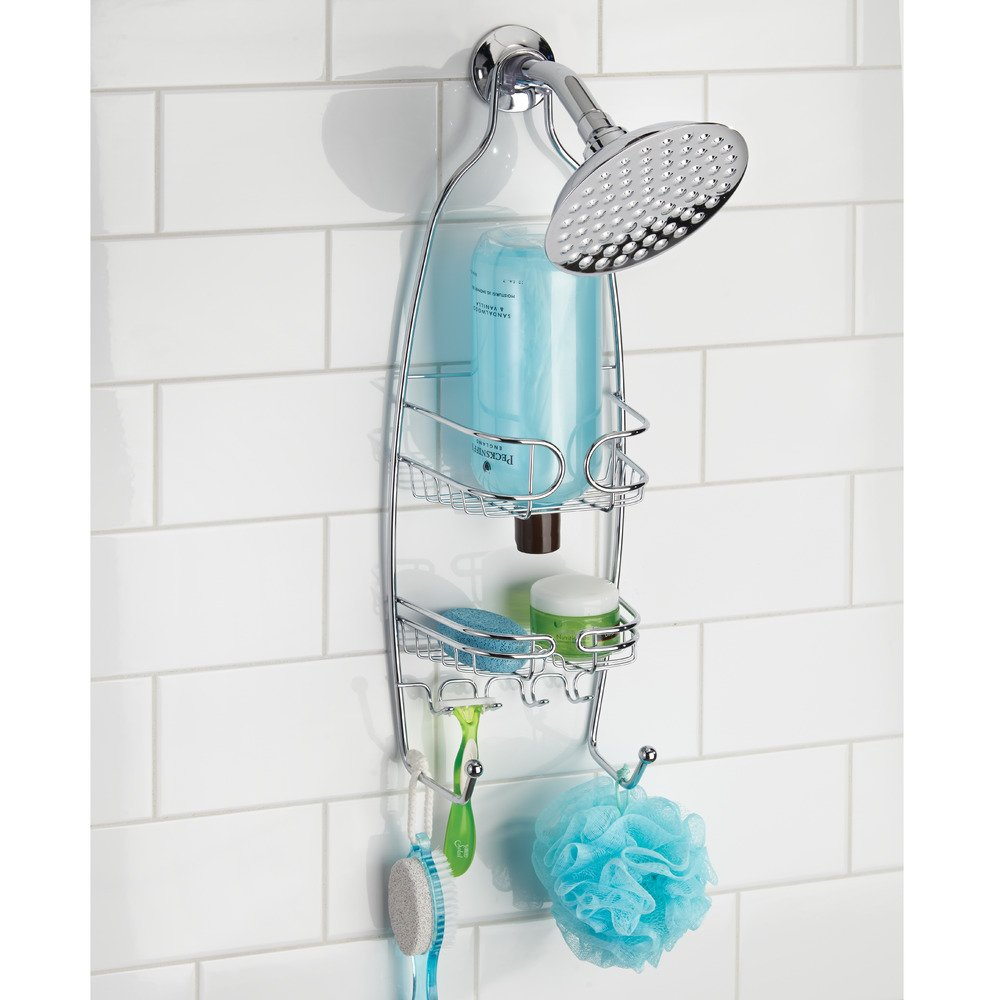 InterDesign Neo Shower Toiletry Holder, Metal Hanging Shower Caddy ...
