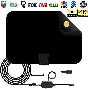 BangHaa HD TV Digital Antena Kit, 60-80 Miles de Largo Alcance de Alta definición con televisión de Alta definición Amplificador Amplificador de señal de Interior: Amazon.es: Electrónica