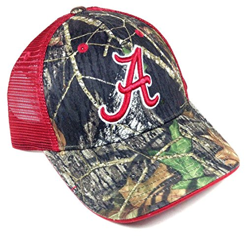 Alabama Crimson Tide Red Tonal Mesh Trucker Mossy Oak Camo Hat