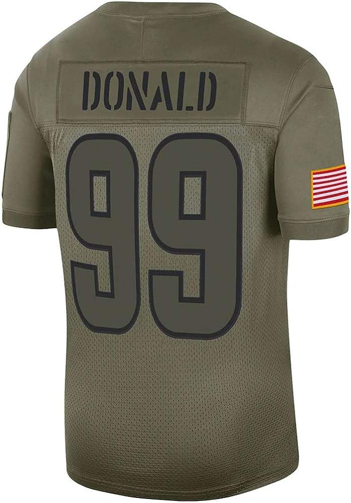 NMLB Camiseta de rugby para hombre Camiseta deportiva de malla de secado r/ápido para fans 99# Aaron Donald Los Angeles Rams Athleten