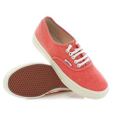 3e887eddf991dc Womens Vans Authentic Slim Hot Coral Trainers SIZE 7  Amazon.co.uk  Shoes    Bags