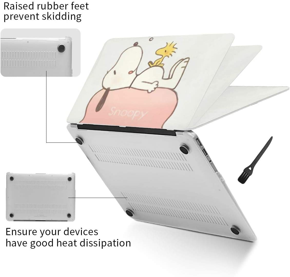 Laptop Hard Shell Case for MacBook Air 13 Snoopy Cover with Hard Shell Case Cleaning Brush,Laptop Case A Variety of Models