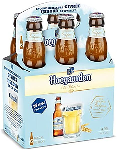 Hoegaarden trigo cerveza de 33 cl (paquete de 24 x 330 ml): Amazon.es: Alimentación y bebidas