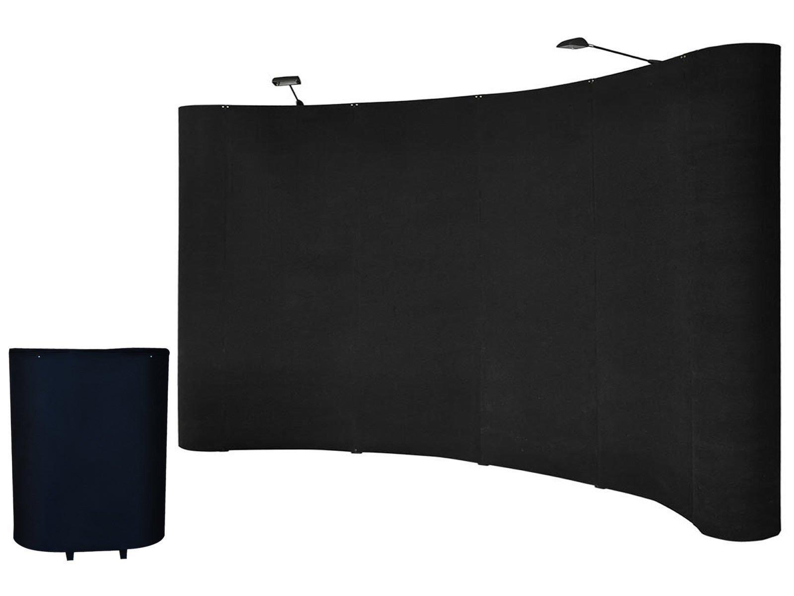 Goplus 10'ft Portable Black Display Trade Show Booth Exhibit Pop up Kit W/spotlights