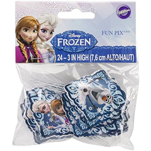 Wilton Disney Frozen Licensed Fun Pix Cupcake Toppers, 24 Count