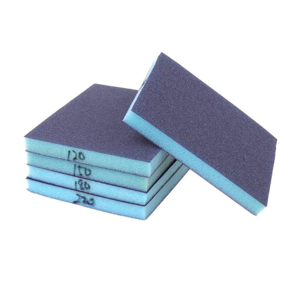 ZCZSDXB sandpaper-10 Pcs Polishing Sanding Sponge Block Pad Set Sandpaper Assorted Grit Abrasive Tools Sandpaper Sanding Discs,Grey,150