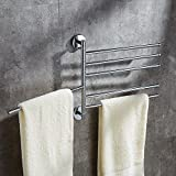 HOMEE Bathroom Towel Rack Kitchen Towel Rack Can Rotate,E