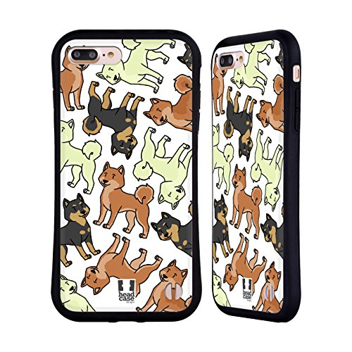 Head Case Designs Shiba Inu Dog Breed Patterns 6 Hybrid Case for iPhone 7 Plus/iPhone 8 Plus