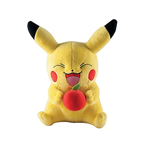 TOMY Pokemon Pikachu 10-Inch Large Plush [Holding Apple]