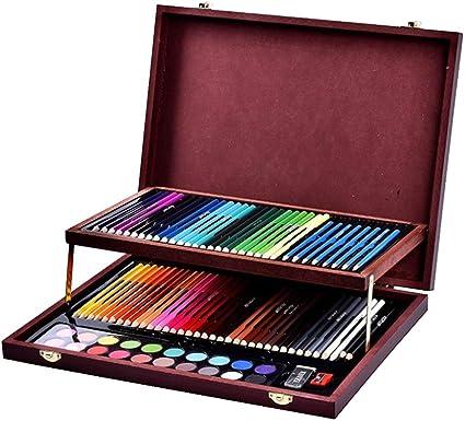Cvthfyky 91 Caja de Madera para niños Pintura Juego de papelería ...