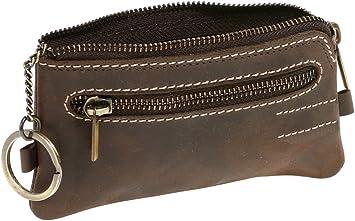 Monedero-Llavero para señores y señoras Vintage Style LEAS, Piel ...