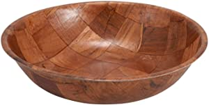 Winco WWB-10 Wooden Woven Salad Bowl, 10-Inch, Set of 4 by Winco