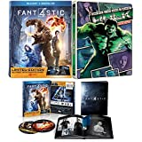 Marvel Studios Limited Edition Book Pack Fantastic Four 2015 & The Incredible Hulk Blue Ray Steelbook + DVD Limited Edition Collection