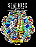 Sea horse adult coloring books: Mandala and sea animals patterns