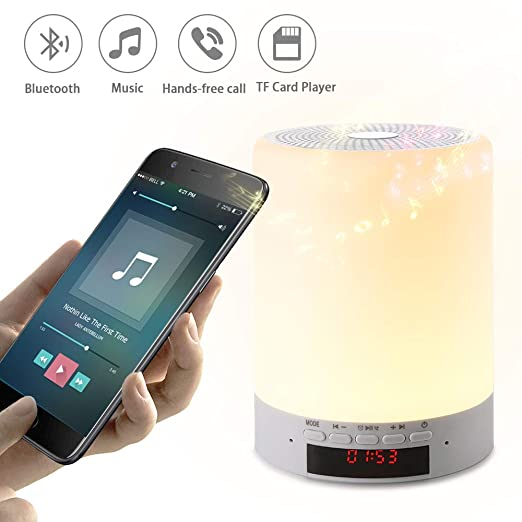Amazon.com: Night Light Bluetooth Speakers, Wake up Light ...