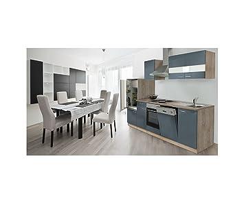respekta LBKB280ESG - Bloque de cocina (280 cm, roble), color gris
