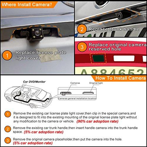 feeldo estacionamiento c/ámara de visi/ón trasera para Buick Excelle GT//Regal Opel Vectra//Astra//Zafira//insignia Chevrolet Malibu
