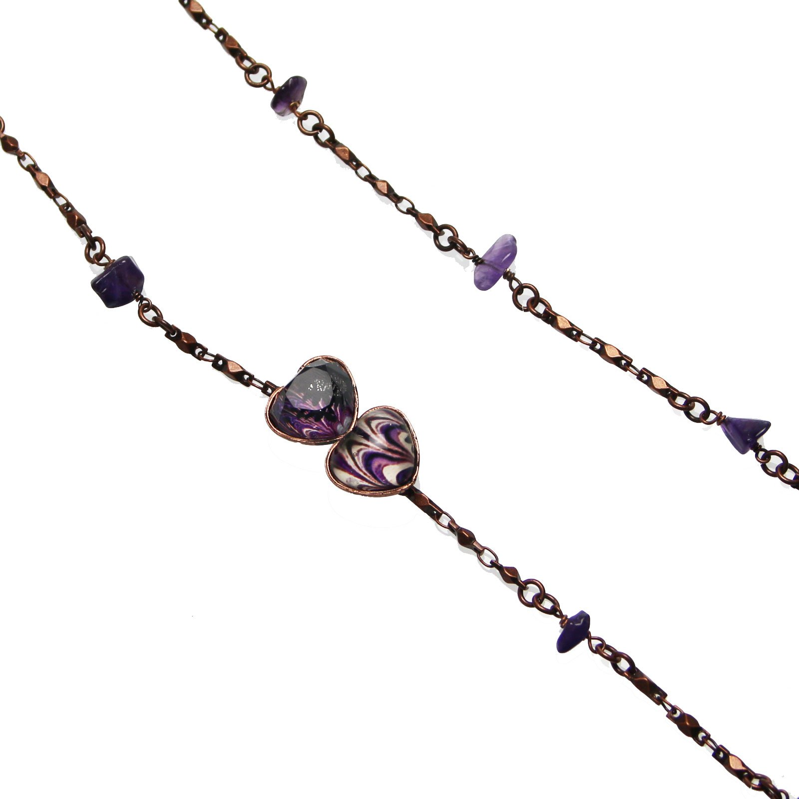 Tamarusan Glasses Chain Seventy Years Of Age Amethyst Strap Heart Marble