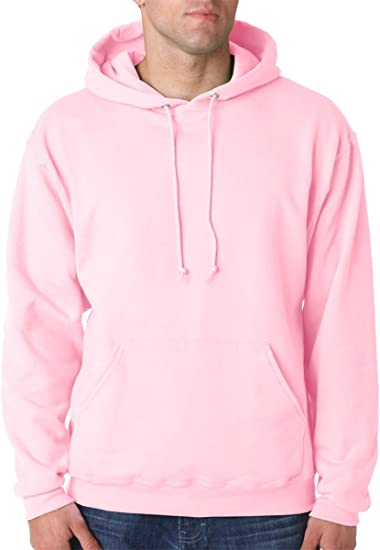 Jerzees 8 oz NuBlend 50//50 Pullover Hood Large Classic Pink