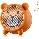 Mini Bluetooth Speaker Aurtec Cute Animal Portable Wireless Outdoor Stereo Audio with Superior Sound and Richer Bass,Remote Selfie Function,Bluetooth 4.2,Handsfree Calling - Bear