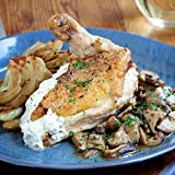 Chicken Breast with Herbed Goat Cheese and Wild Mushroom Sauce by Chef'd (Dinner for 4)