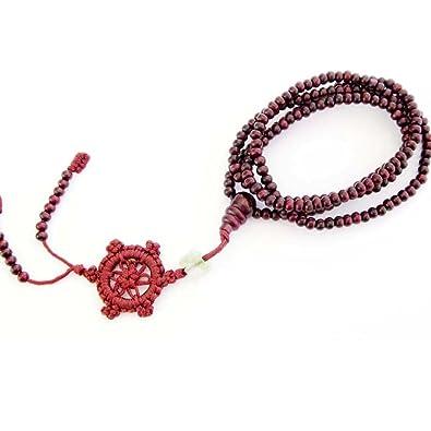 Amazoncom 216 Purple Wood Beads Tibetan Buddhist Prayer Mala