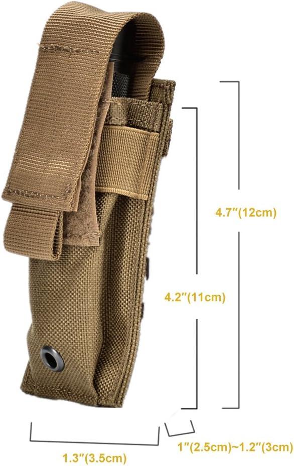 MEROURII Tatical Magazine Holder Einzel-Magaine-Beutel Holster PU-Leder-Mag-Beutel mit schneller Reaktion und MOLLE-kompatibler Passform f/ür 9 mm .40 .45 oder .380 Kaliber Pistol Mag