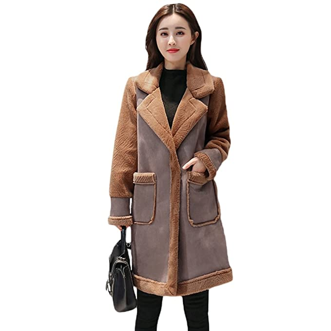 WanYang Moda para Mujer Abrigos Otoño Invierno Chaqueta Larga Engrosamiento Cálido Elegante Abrigo de Mujer: Amazon.es: Ropa y accesorios