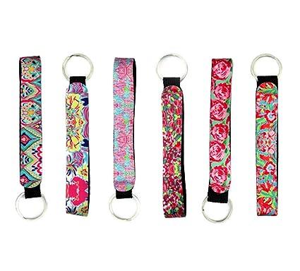 Amazon.com  Cool Neoprene Wristlet Keychain Lanyard 6 Pack ... 440bb9ec0c63