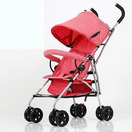 El cochecito de bebé, ultra-ligero puede sentarse se puede ...