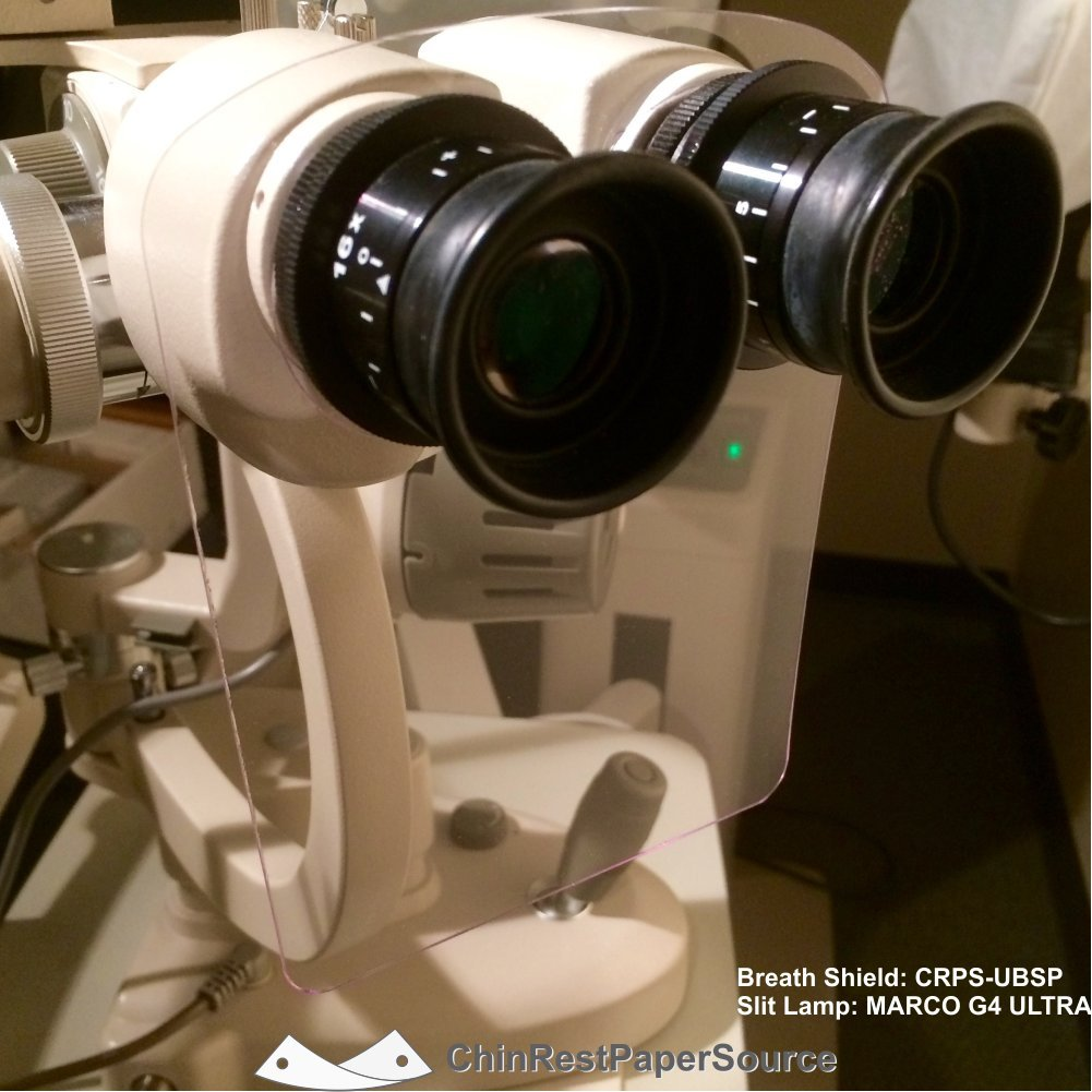Universal Slit Lamp Breath Shield Thick Acrylic Zeiss Style Large