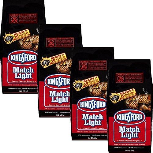Charcoal Grill Briquet Kingsford Match Light Instant Charcoal Briquettes 11.6 lb (4pk)