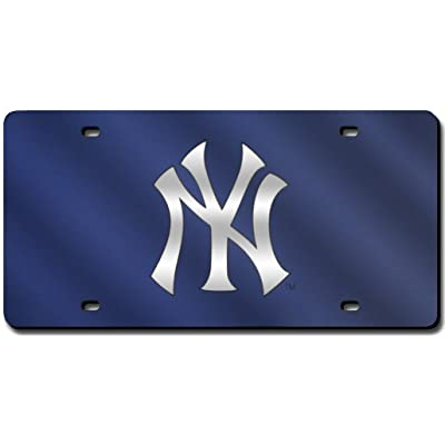 Rico Industries - New York Yankees Laser Cut Blue License Plate: Sports & Outdoors