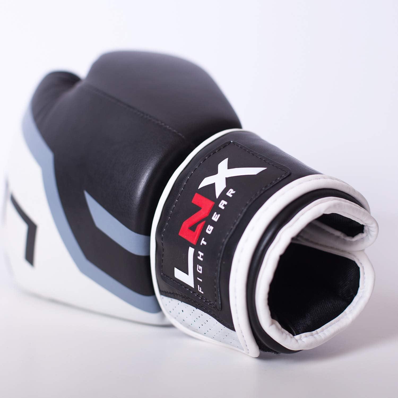 perfekt f/ür Kickboxen Boxen Muay Thai K1 MMA Kampfsport UVM LNX Boxhandschuhe Level 5-8 10 12 14 16 Oz