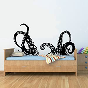 JS Artworks Octopus Tentacles arms Vinyl Wall Art Decal Sticker