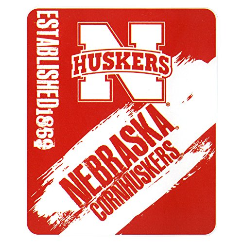The Northwest Company NCAA Collegiate School Logo Fleece Blanket (Nebraska Cornhuskers, 50