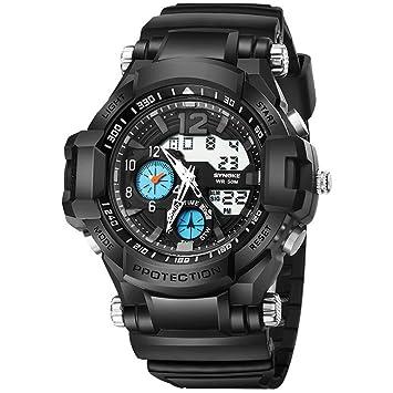 Yxx max Reloj Impermeable Reloj Deportivo Reloj Deportivo para Correr al Aire Libre Reloj para Hombre Reloj Luminoso Multifuncional Impermeable (Color : C): ...