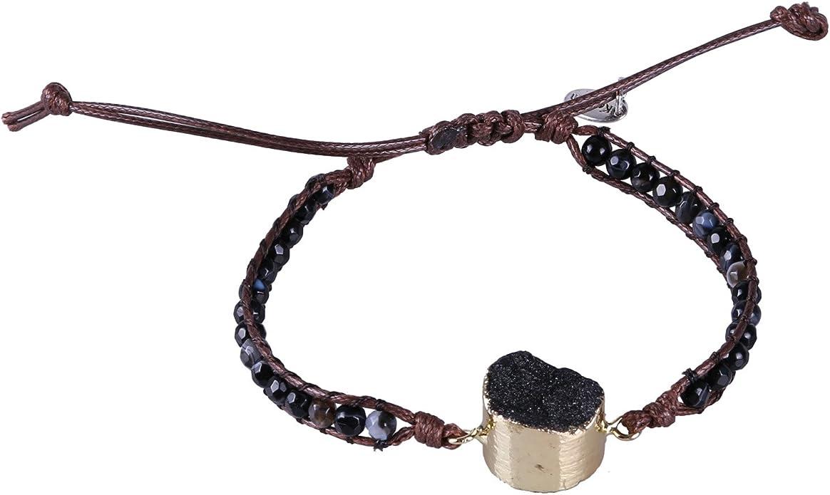 Handmade bracelet Gemstone bracelet Boho chic Spectrum gemstone bracelet Afghan tourmaline Rustic gemstone beads Unique Christmas gift