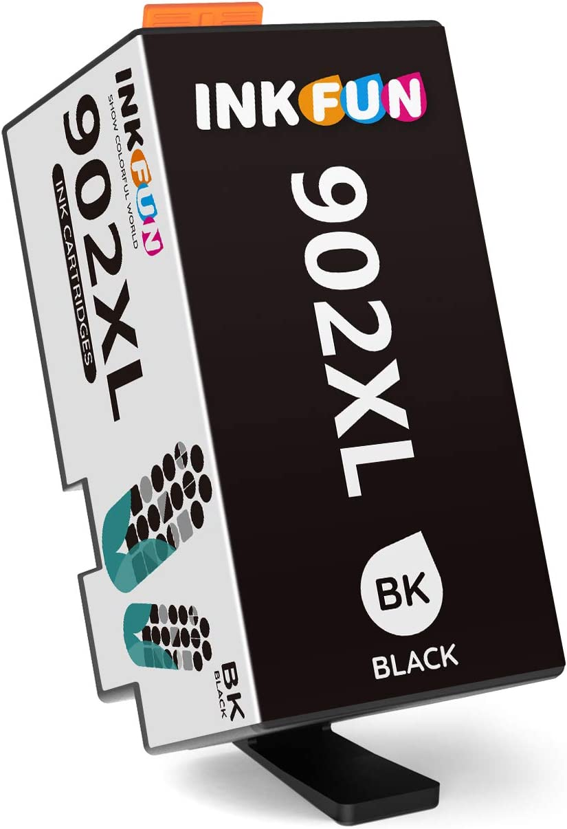 INKFUN Compatible Ink Cartridge Replacement for HP 902XL 902 XL Ink Cartridge Combo Pack to use with HP Officejet Pro 6978 6968 6962 6958 6970 6974 HP 902 Ink Cartridges Printer,1 Black