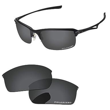 206aafd4f7 PapaViva Lenses Replacement for Oakley Wiretap Black Grey - Polarized