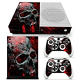 Skinartwork Red Skull Vinyl Skin Sticker for Xbox One S Console & 2 Controllers