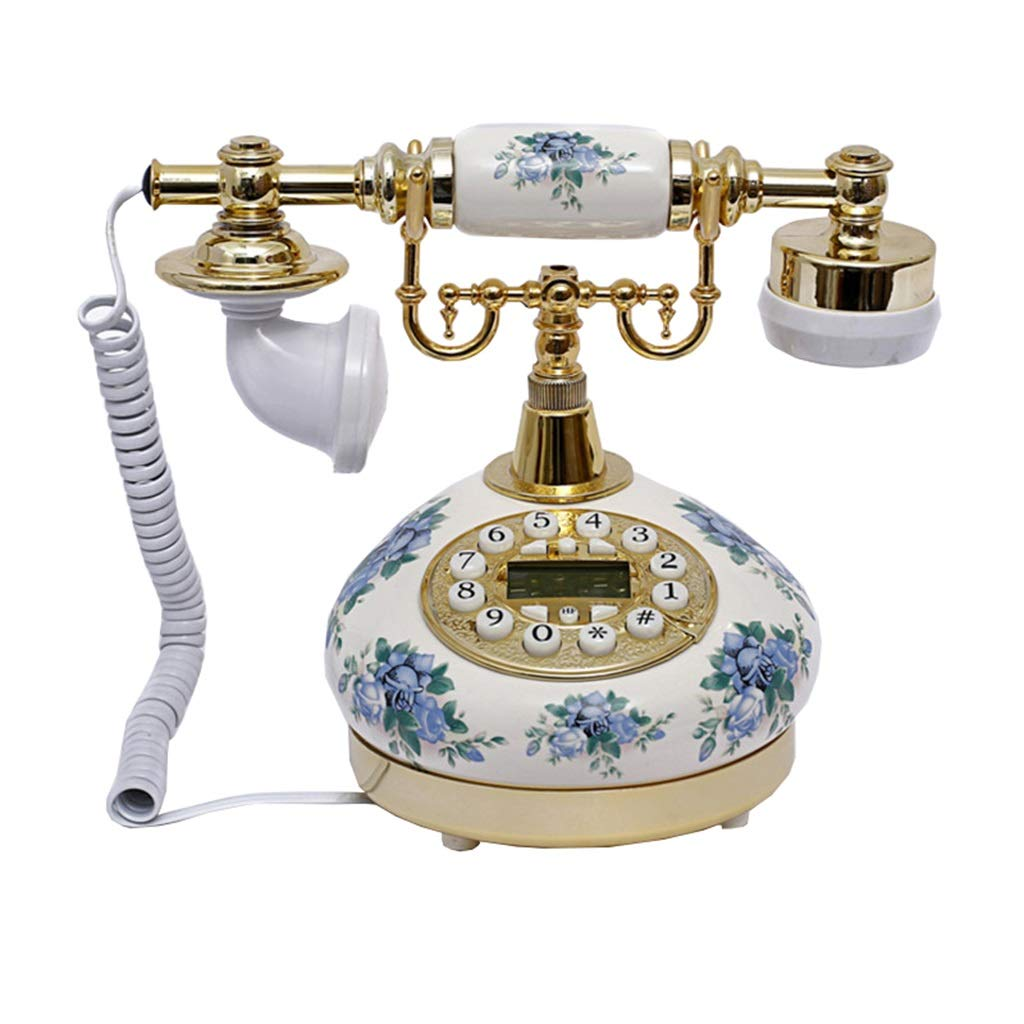 JGBHPNYX Antique Landline Phone Classic Ceramic Retro Vintage Gallery Home Decor Vintage Phone