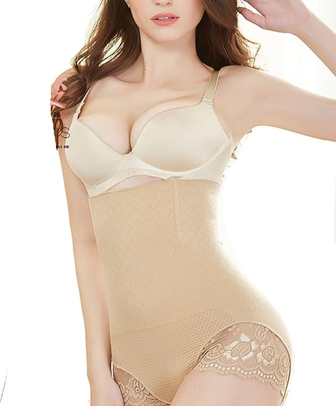 fb7951e6cd8c Women High Waist Tummy Control Underwear Body Shaper Panties Shapewear  Thong Slimming Butt Tifter Girdle Waisted Briefs at Amazon Women's Clothing  store: