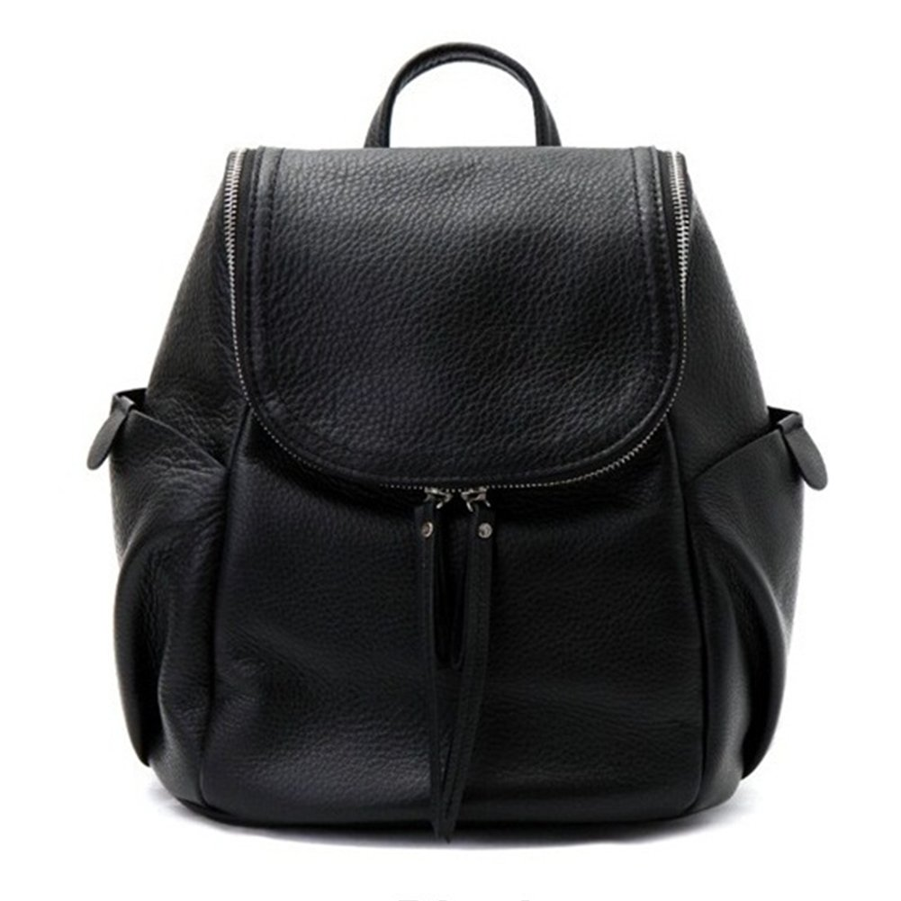VF P906 Leather Backpack Black