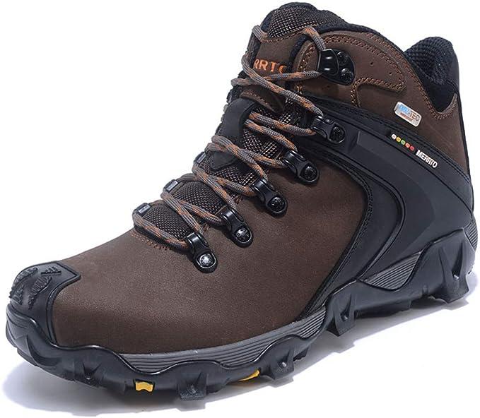 Bergort Men Hiking Shoes Trekking Walking Breathable Outdoor Sneakers