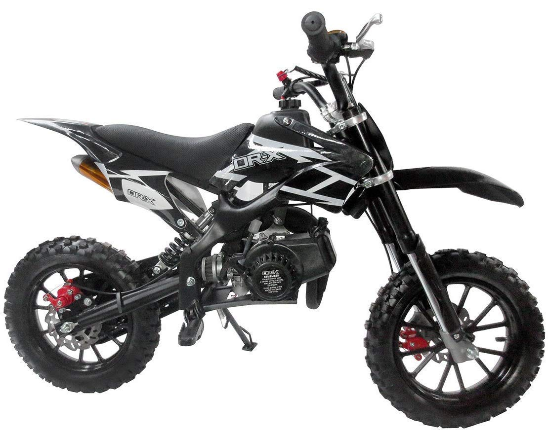 Superrio 49CC 2-Stroke Gas Power Mini Dirt Bike Dirt Off Road Motorcycle (Black)