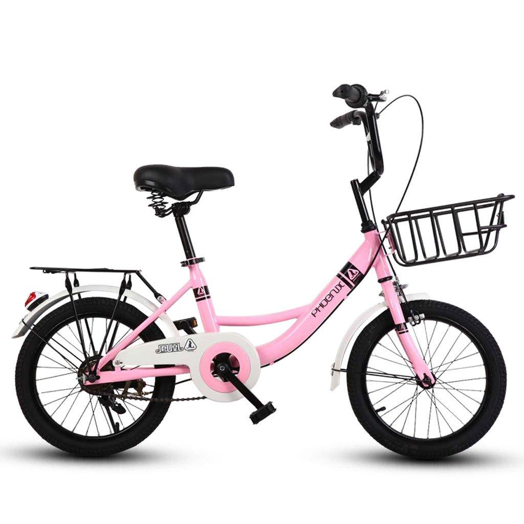 子供用自転車16インチガールズサイクリング6-10男性と女性の子供のベビーカーピンク ( Color : Pink ) B07DR9YH78
