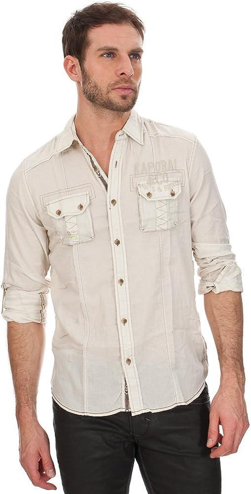 Kaporal - Camisa casual - Otro - para hombre Marrón marrón S: Amazon.es: Ropa y accesorios
