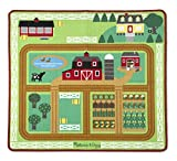 Melissa & Doug Round the Barnyard Farm Activity Play Rug, 39 x 36